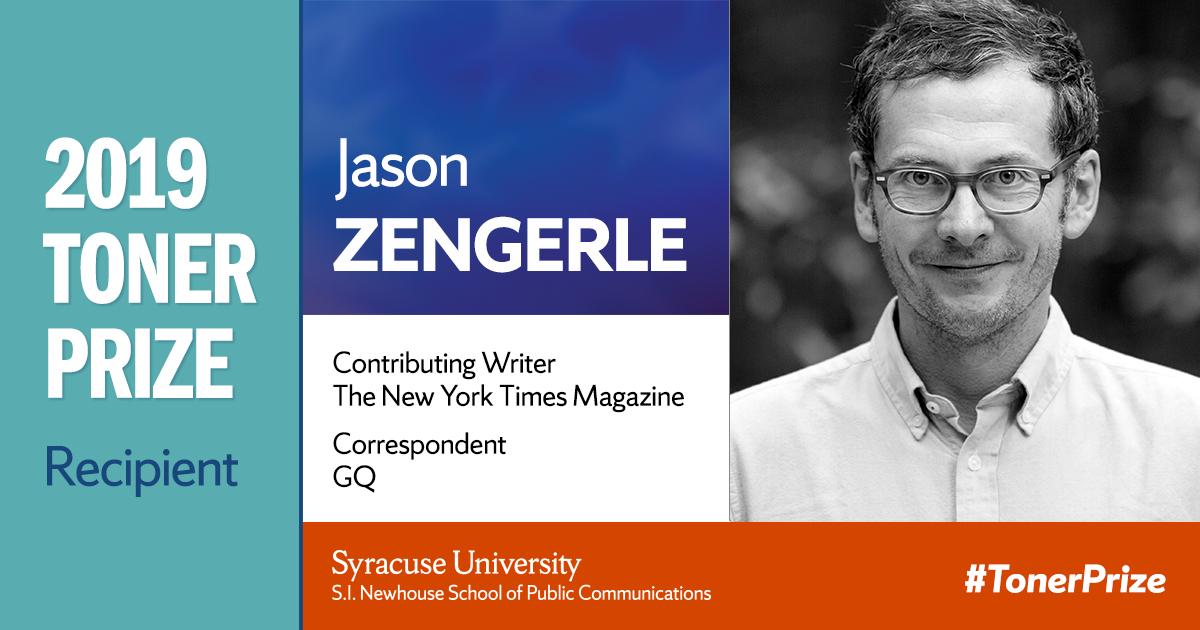 2019 Toner Prize Recipient Jason Zengerle