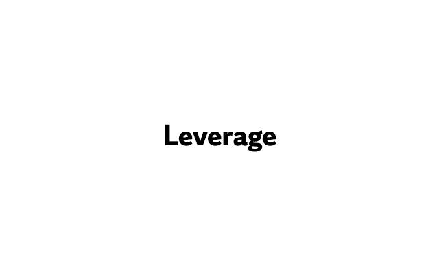 Leverage | Toner Prize Sponsor